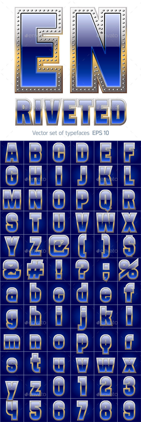 GraphicRiver Blue Alphabet with Riveted 11603424