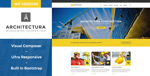 ThemeForest Architectura Construction & Building WP Theme 11532531