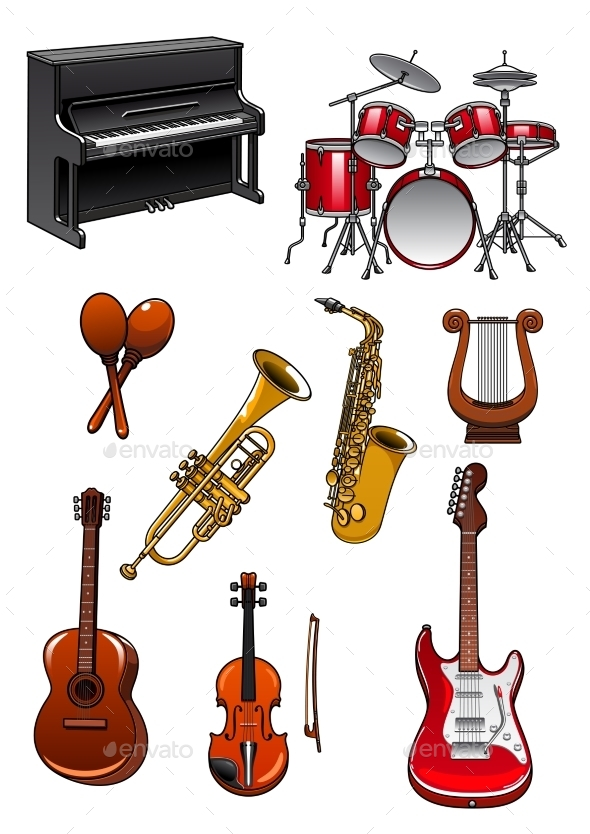 GraphicRiver Classic Musical Instruments 11603486