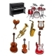 Classic Musical Instruments - GraphicRiver Item for Sale
