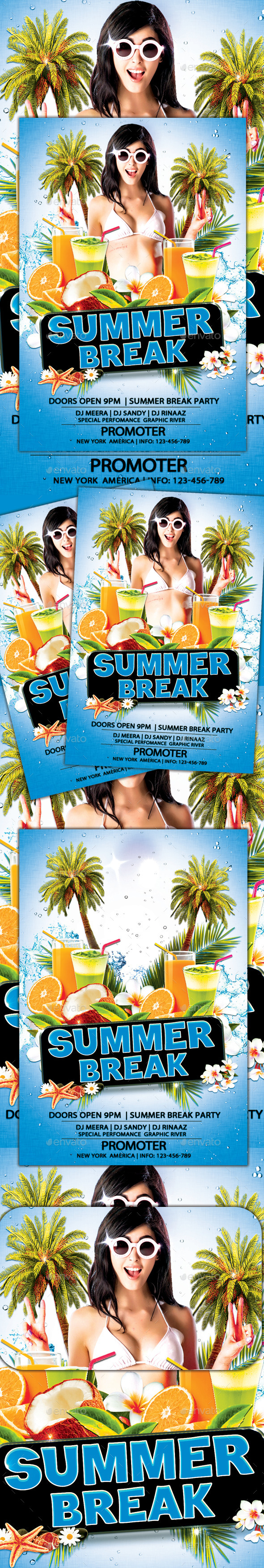 GraphicRiver Summer Break Flyer 11603723