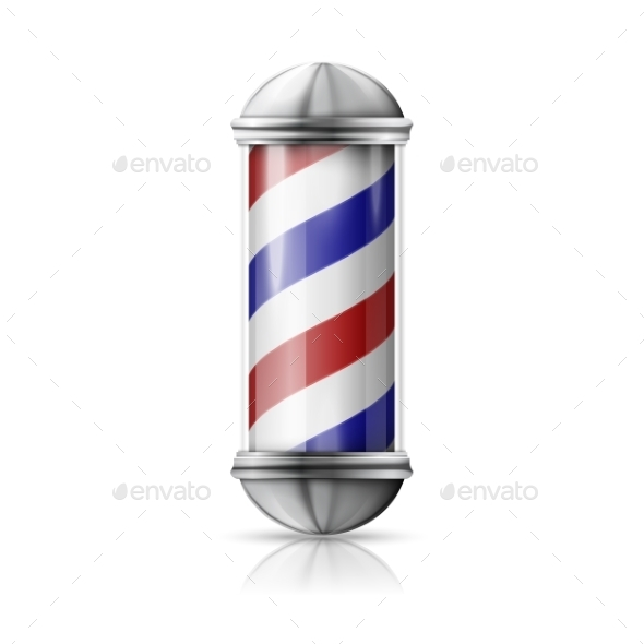 GraphicRiver Old Fashioned Vintage Silver Barber Pole 11604595