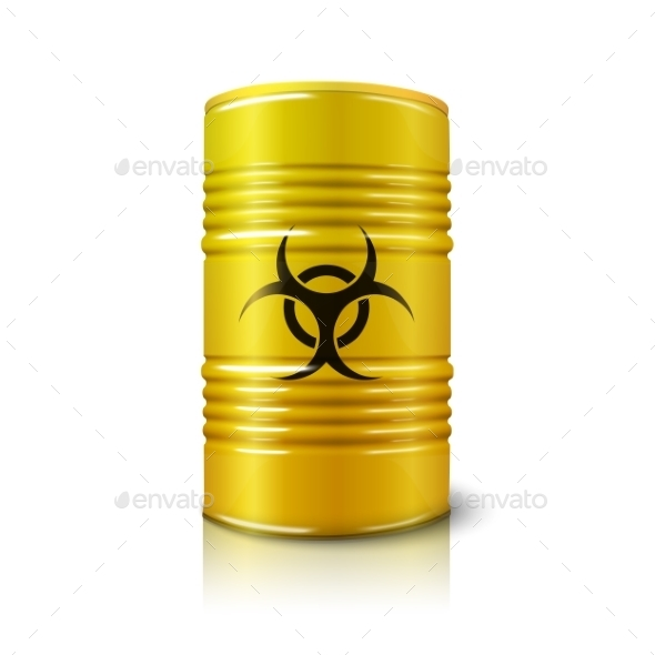 GraphicRiver Barrel with Biohazard 11604602
