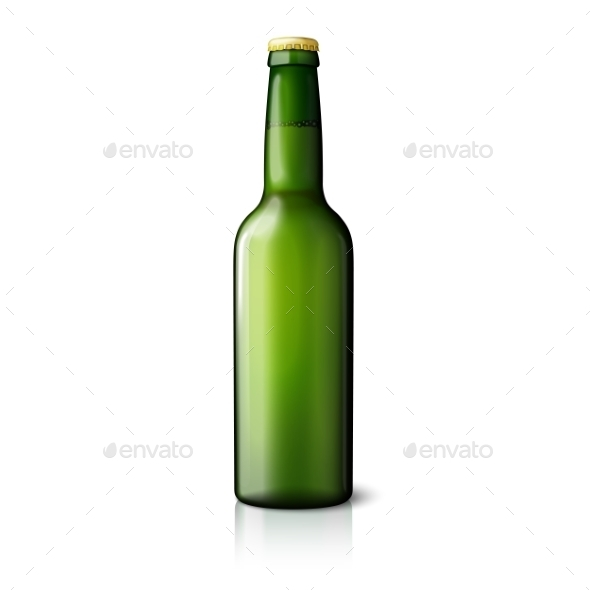 GraphicRiver Blank Green Beer Bottle 11604606