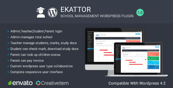 CodeCanyon Ekattor School Manager Wordpress Plugin 11604783