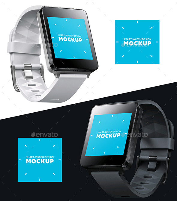GraphicRiver Smart square watch Design Mockup 11604879