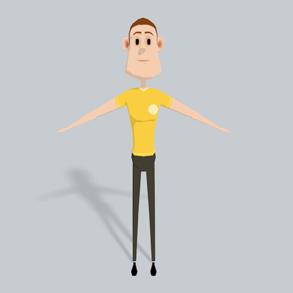 3D Character Low Poly - 3DOcean Item for Sale