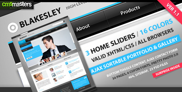 Blakesley - HTML Business & Portfolio Template