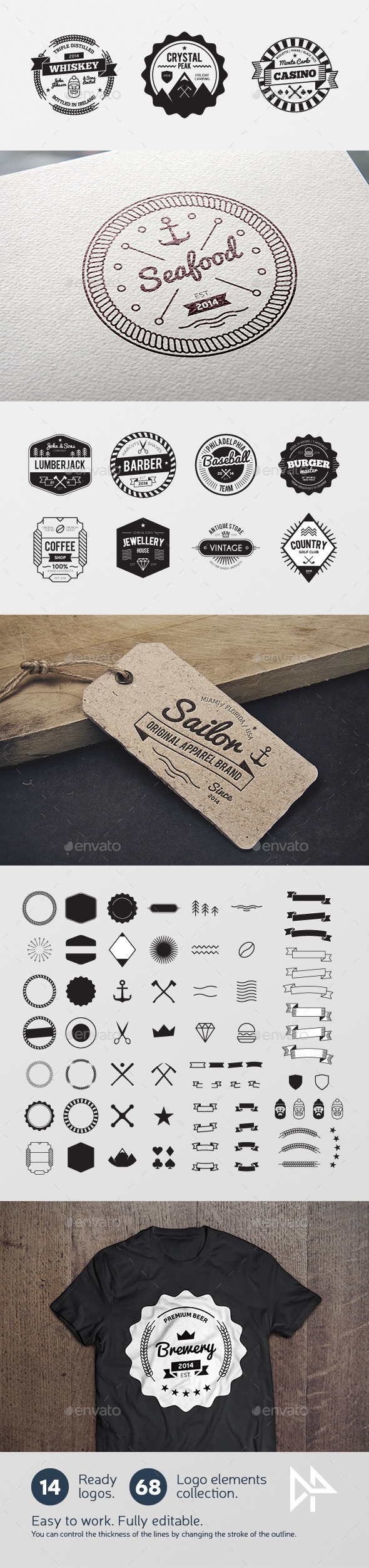 GraphicRiver Badges creation kit 11605150