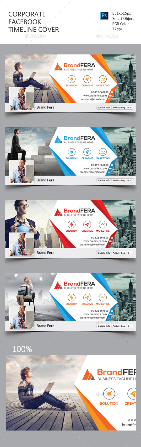 GraphicRiver Corporate Facebook Timeline Cover 11605576