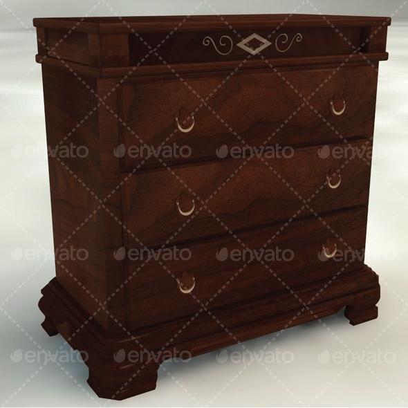 Dresser - 3DOcean Item for Sale