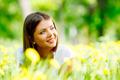 Woman on flower field - PhotoDune Item for Sale
