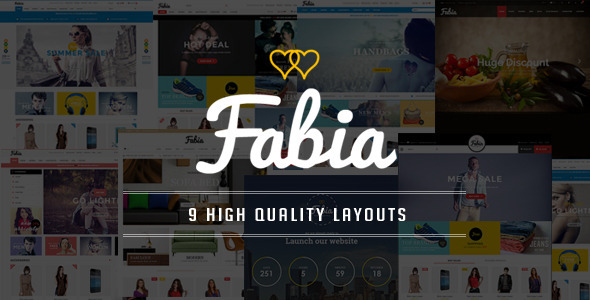 ThemeForest Fabia OpenCart Theme with 9 Layouts 11606278