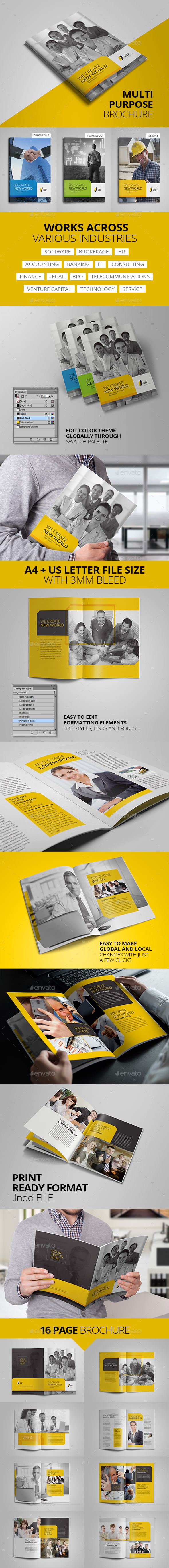 GraphicRiver Multipurpose Corporate Business Brochure 16 pages 11509733