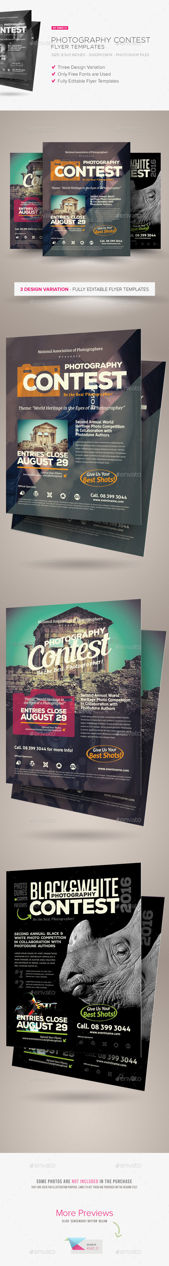 GraphicRiver Photography Contest Flyers 11606515