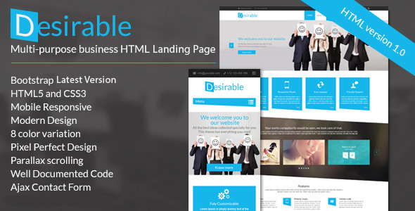 Image of Desirable -  Business Landing Page Template
