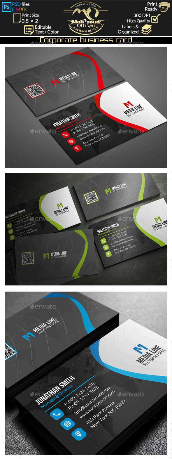 GraphicRiver Corporate Business Card 11606617