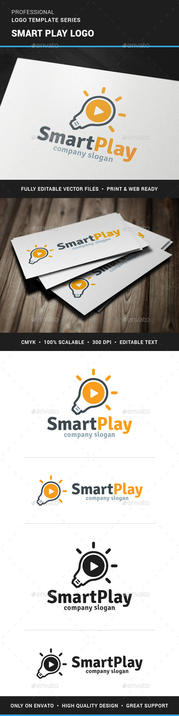 GraphicRiver Smart Play Logo Template 11606726