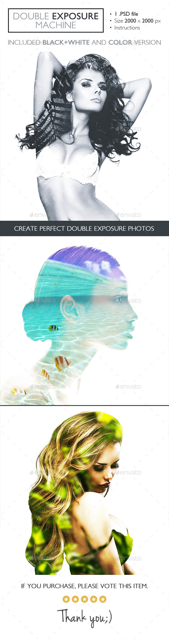 GraphicRiver Double Exposure Machine 11580571