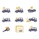 Car Insurance Icons In Flat Style - GraphicRiver Item for Sale
