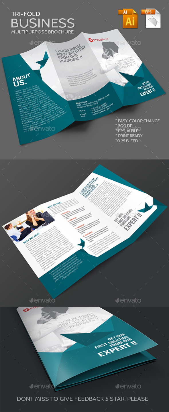 GraphicRiver Trifold Business Brochure 11607046