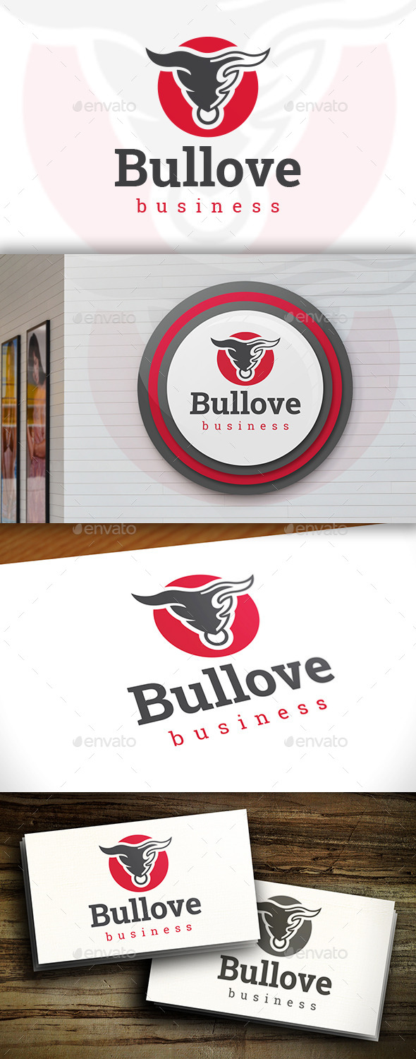 GraphicRiver Bull Love Logo 11607170