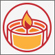 Fire Candle Life Logo - GraphicRiver Item for Sale