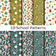 Set of Ten School Patterns - GraphicRiver Item for Sale