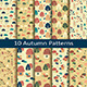 Set of Ten Autumn Patterns - GraphicRiver Item for Sale