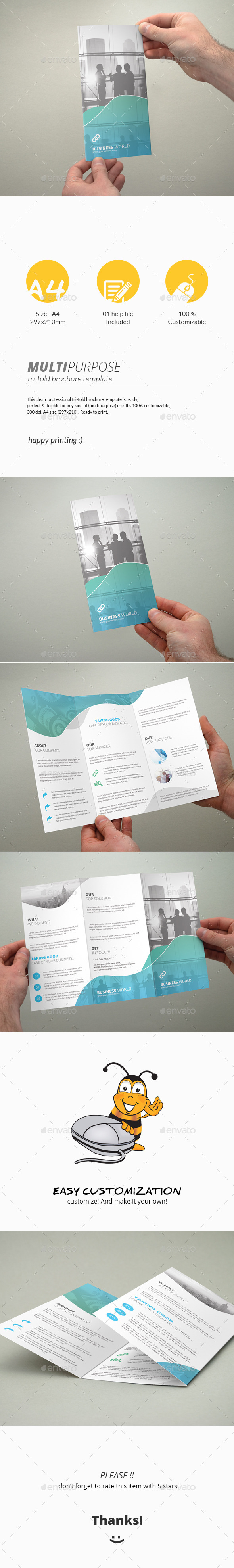 GraphicRiver Tri-Fold Brochure Multipurpose 11608475