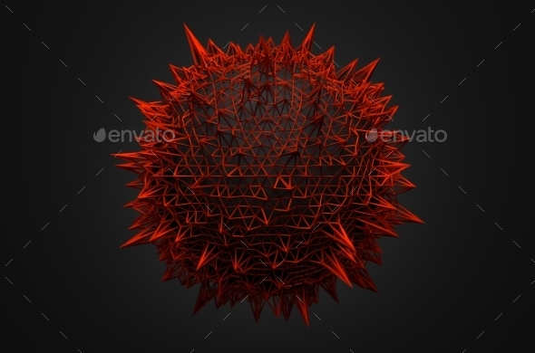 GraphicRiver 3D Rendering Of Sphere With Chaotic Structure 11608693