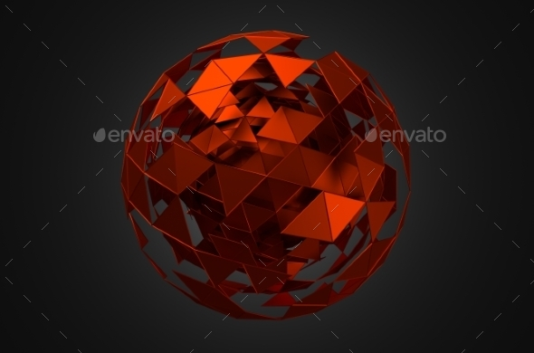 GraphicRiver Abstract 3D Sphere With Chaotic Structure 11608748