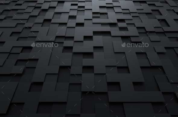 GraphicRiver 3D Rendering Of Futuristic Surface With Squares 11608757