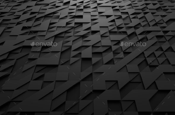 GraphicRiver Abstract 3D Rendering Of Surface With Triangles 11608767