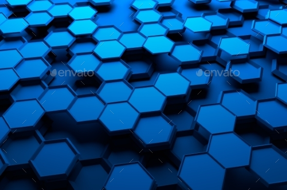 GraphicRiver Abstract 3D Rendering Of Surface With Hexagons 11608776