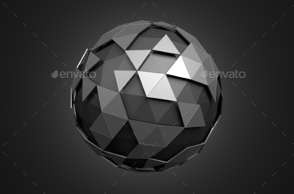 GraphicRiver Low Poly Sphere With Chaotic Structure 11608785