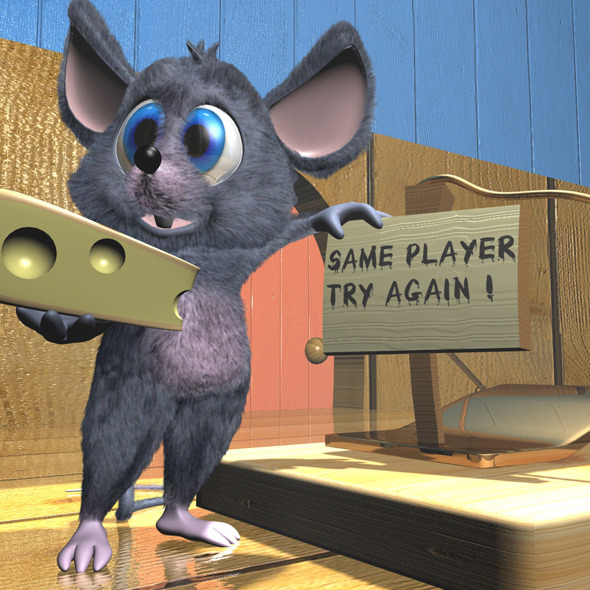 Cartoon Mouse Rigged - 3DOcean Item for Sale
