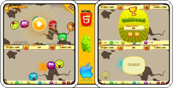 CodeCanyon Smiles HTML5 Mobile Game Capx 11609098