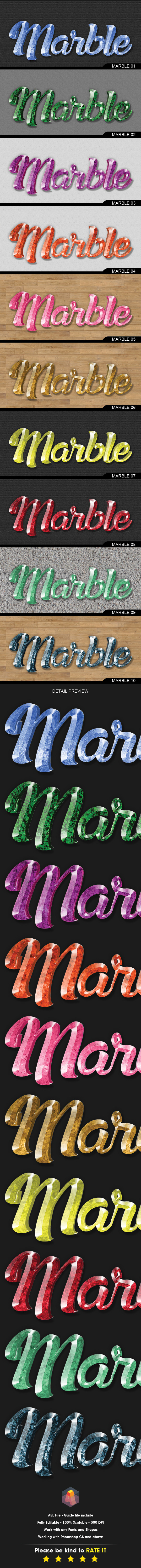 GraphicRiver 3D Text Effects Marble Gem Stone Styles 11609175