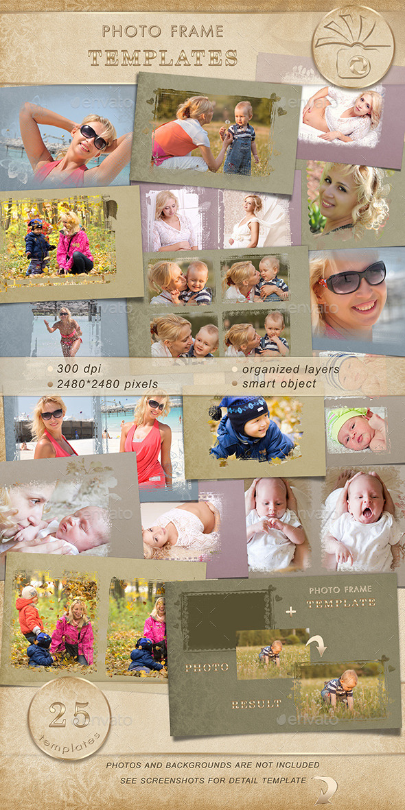 GraphicRiver Photo frame templates 11609250