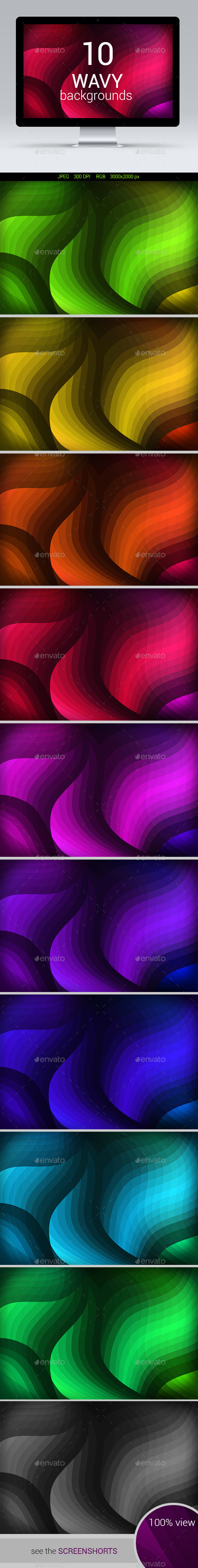 GraphicRiver 10 Wavy Backgrounds 11583037