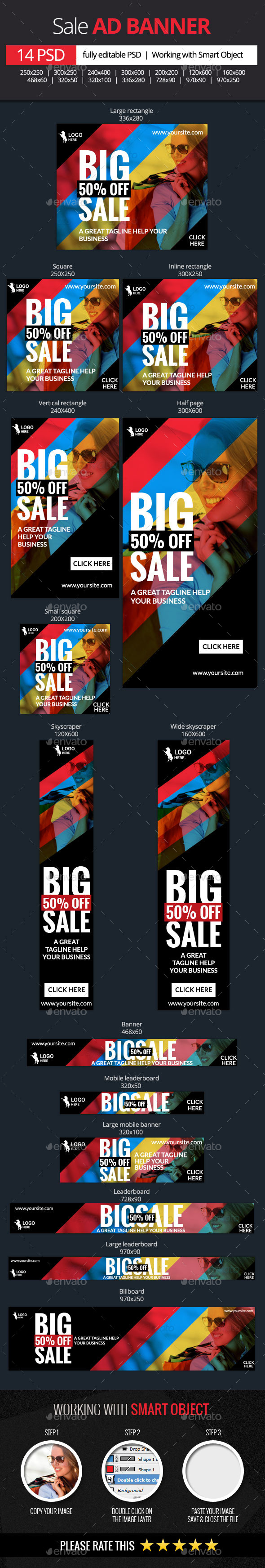GraphicRiver Big Sale Web Banners 11609300