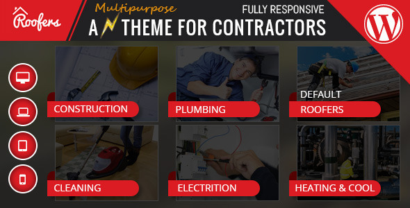 Download Roofers - WordPress Theme For Construction, Contractor Companies nulled download