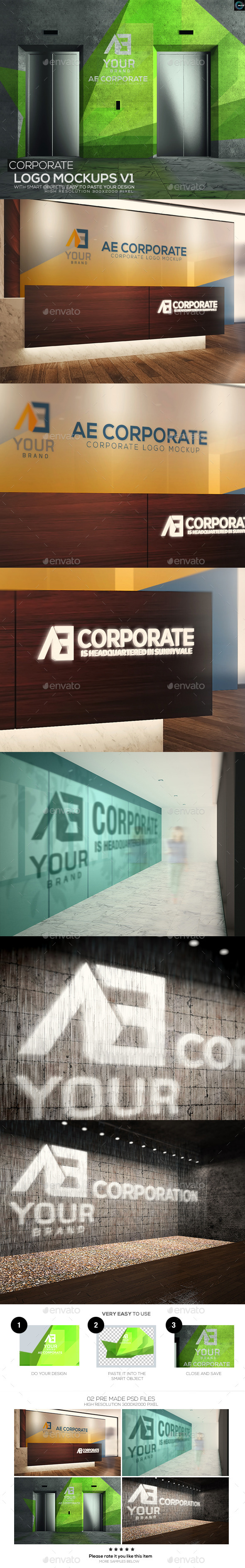 GraphicRiver Corporate Logo Mockups V1 11609562
