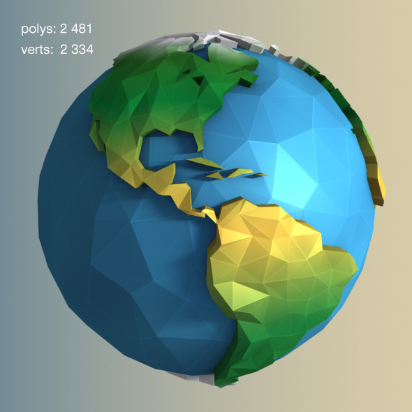 3DOcean Low Poly Earth 11609966