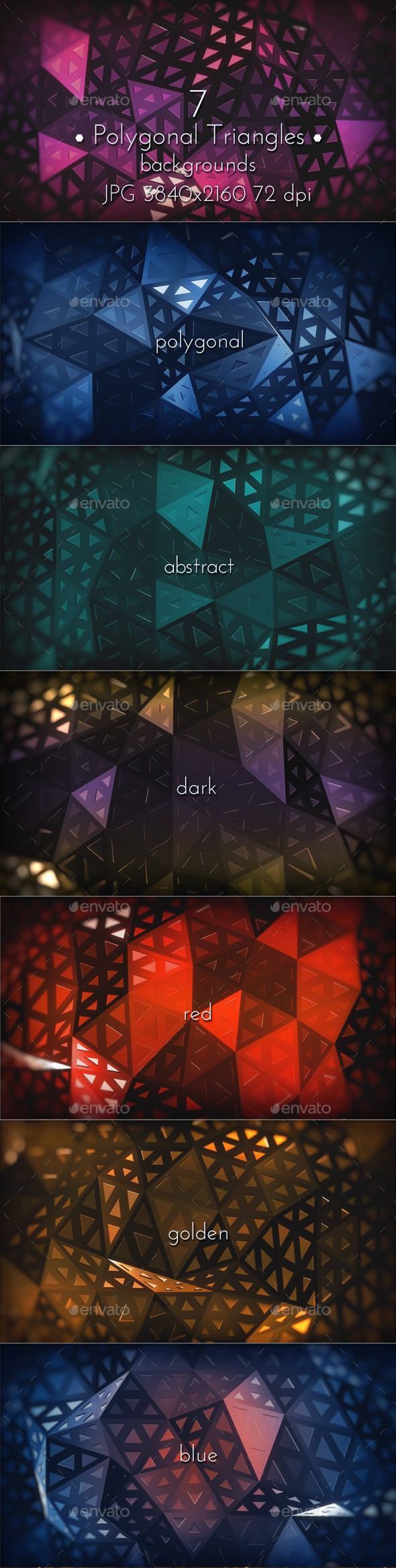 GraphicRiver Polygonal Triangles Background 11610020