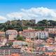 Lisbon St Jorge Castle from Sao Pedro de Alcantara viewpoint - M - PhotoDune Item for Sale