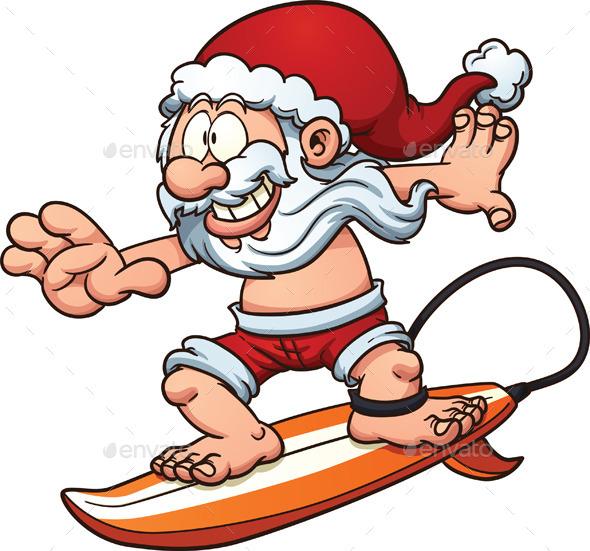 GraphicRiver Surfing Santa 11610557