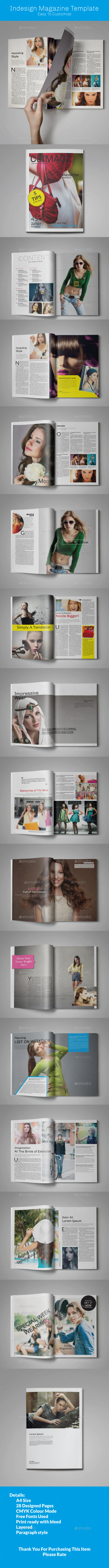 GraphicRiver Clean and Modern Magazine Template 11610588