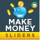 Make Money Sliders - 2 Color Variations - GraphicRiver Item for Sale